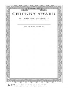 unusual chickens certificate so readers can create their own
